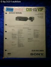 Sony Service Manual CVX V3 /V3P Color Video Camera (#6339)