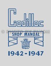 1942-1946-1947 Cadillac Shop Manual 42-47 Repair Service Book includes Fleetwood