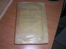 1872.cité antique.Fustel Coulanges.antiquité Grèce Rome