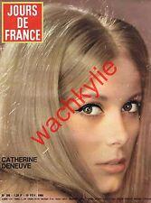Jours de France n°588 du 19/02/1966 Catherine Deneuve Line Renaud Mode Soraya