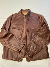 Mens PERFECTO BY SCHOTT Cowhide Restoration Hardware Cafe Racer Jacket Sz XL