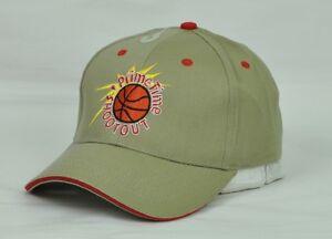 PrimeTime Shootout Mens Hat Cap Adjustable Beige Curved Bill Basketball Sports