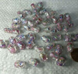 Lot of   30   Vintage Czech Art DECO   ART Glass   Jewelry  FOIL    BEADS