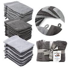 Wash Monkey® Waschlappen 10er Set Waschhandschuh Frotte Baumwolle 16x21 cm