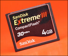 San Disk Extreme IV  4GB CF  Compact Flash Memory Card For DSLR Cameras
