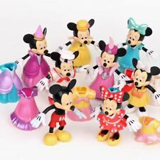 8pcs Mickey Minnie Mouse Action Figures Changed Dress Doll Kids Girls Toys Gift