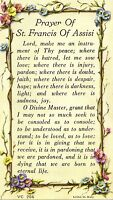 """"""" Prayer of St Saint Francis of Assisi """" ~ Litho Prayer Card made in Italy"""