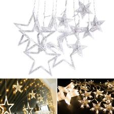 Cortina de Estrellas Luces LED Cadena Luminarias Decorativas Interior Navidad