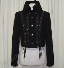 "SASS&BIDE BLACK WOOL MILITARY STYLE CORSET JACKET 40/4 (AUS 10) ""THE MAJORETTES"""