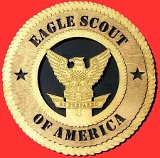 Eagle Scout Custom Made Laser Cut Birch Wall Plaque Can Customize with Name