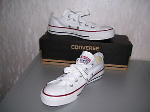 Converse All Star Chucks ox low weiß weiss optical white Grösse 36 37 38 39 neu