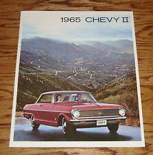 1965 Chevrolet Chevy II Sales Brochure 65 Nova Super Sport 100 Wagon
