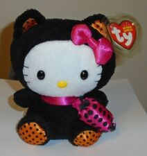 Ty Beanie Baby ~ HELLO KITTY in BLACK CAT Halloween Costume - MWMT
