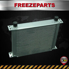 30 ROW AN-10AN Universal Aluminum Engine Transmission Oil Cooler Silver Mocal