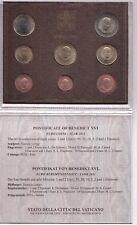 2011 Vaticano Set Divisionale Euro Completa 8 Monete Papa Benedetto XVI FDC UNC