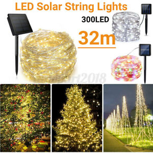 300LED Solar String Light Copper Wire Outdoor Waterproof Garden Decor AU