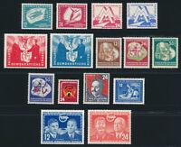 DDR 1951, Jahrgang komplett postfrisch, ohne 286-288, Mi. 183,-