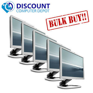 """(Lot of 5) HP 19"""" Flat Panel Screen LCD Monitor with VGA Cable (1 Year Warranty)"""