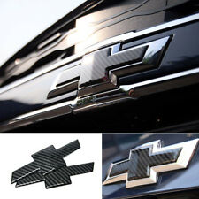 Grille Trunk Bowtie Emblem Badge Cover Carbon For 2017, 2018+ Chevrolet Malibu