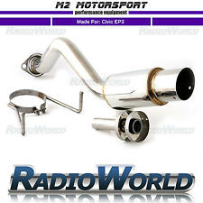 M2 Honda Civic Honda Civic EP3 Type R Spec Angled Tip Rear Back Box Exhaust