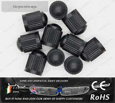 10x Black Plastic Tyre Tire Valve Alloy Wheel Dust Caps Cover Car Van Bike Truck