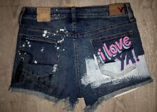 American Eagle Stretch Hi-Rise Distressed 10 Shorts Vintage Blue Denim NEW