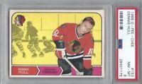 1968 OPC hockey card #153 Dennis Hull, Chicago Blackhawks graded PSA 8 NMMT