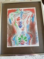 Andre MASSON XXe Siecle No.38 1972 Original Lithograph 12-1/4 x 9-1/2 framed