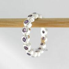 Echte Edelstein-Ringe im Band-Stil aus Sterlingsilber mit Amethyst für Damen