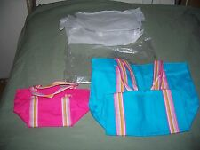 Avon  2005 with Tag Fait En Chine Pour 2 Canves Tote Bags Handles Large & Small