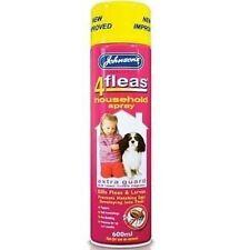Johnsons Flea Household Spray 600ml Home Animal Cats Dogs Kills Fleas Protection