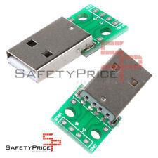 2x PCB Placa Adaptador Convertidor Conector Macho USB a Dip de 4 Pines 2.54 SP