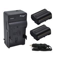 2 x EN-EL15 ENEL15 Battery & Charger For Nikon D7100 D7000 D800 D800E D600 1 V1