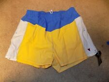 NWT VINTAGE Jantzen Mens Swim Trunks Size 40 Blue yellow White SWIMMER