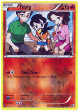 Tepig 25/113 B&W Legendary Treasures REVERSE HOLO PERFECT MINT! Pokemon