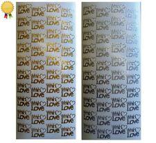 Wedding Silver Scrapbooking Stickers