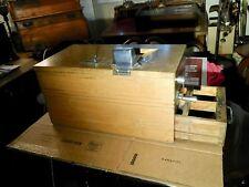 Antique Oak Cash Register Early 1900's Tape Dispenser Crank Bell