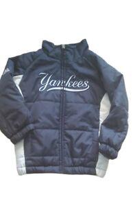 Majestic New York Yankees Navy Puffer Jacket Toddler 3T Navy White Full Zip