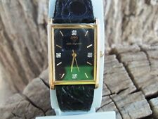 Vintage Jules Jurgensen Thin Diamond Men's Dress Watch New Energizer Battery