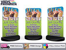 EcoFlex Aluminium Pavement Sign with Full Colour Printed Graphics - Free Design!