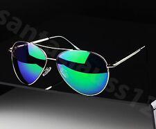 Grande Piloto Aviador Gafas de sol estilo Lentes Efecto Espejo MUJER HOMBRE