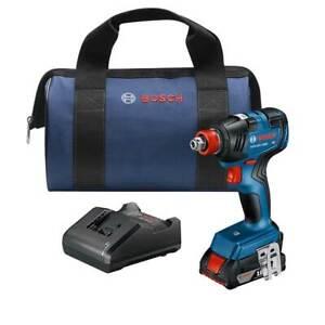 """Bosch GDX18V-1800B12 18V 1/4"""" EC Brushless Impact Wrench Kit w/ 2.0 Ah Battery"""