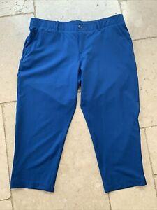 Under Armour Golf Heatgear Links Capri Women's Cropped Trousers Blue Sz 14