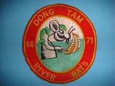 VIETNAM WAR PATCH, US NAVY RATS AT DONG TAM RIVER 68-71