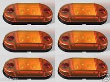6x Naranja 12V 24V Lateral Luces De Marcaje Camión Tráiler Caravana para Scania