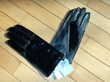 Worthington Ladies Leather Gloves size XL Black Solid Lined for warmth