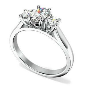 0.72 Ct Oval Cut Diamond Valentine Special Ring 18K White Gold ring All Sizes