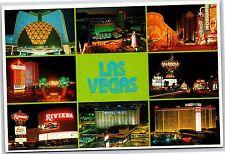 Las Vegas, NEVADA Riviera Stardust Oasis Hilton Circus Continental Postcard New