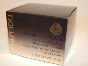 NEW IN BOX SHISEIDO FUTURE SOLUTION LX EYE LIP CONTOUR REGENERATING CREAM 15 ML
