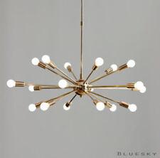18 Lights Arms Sputnik Starburst Light Fixture Chandelier - Polished Brass